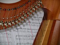harp, strings and music